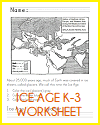 Ice Age Map Worksheet