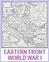 Map Eastern or Russian Front in World War I