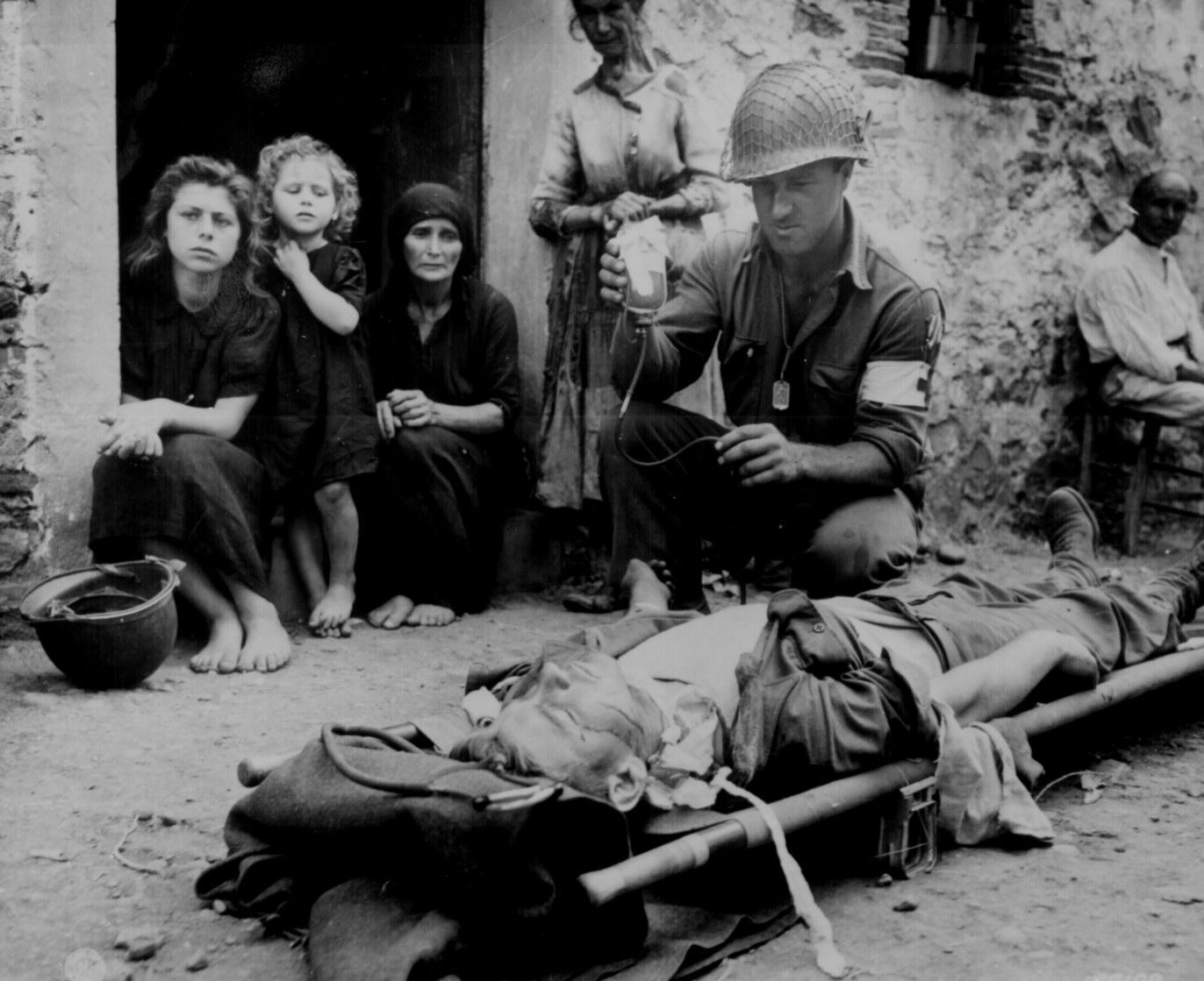 Triage on an Italian Street, 1943