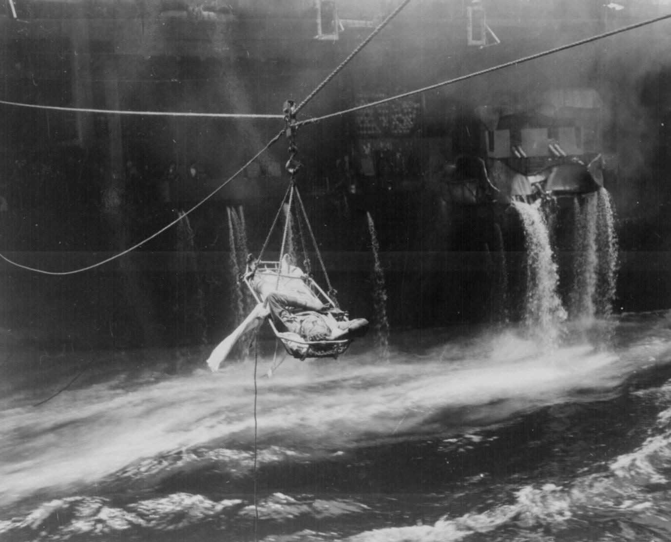 Wounded from the U.S.S. Bunker Hill