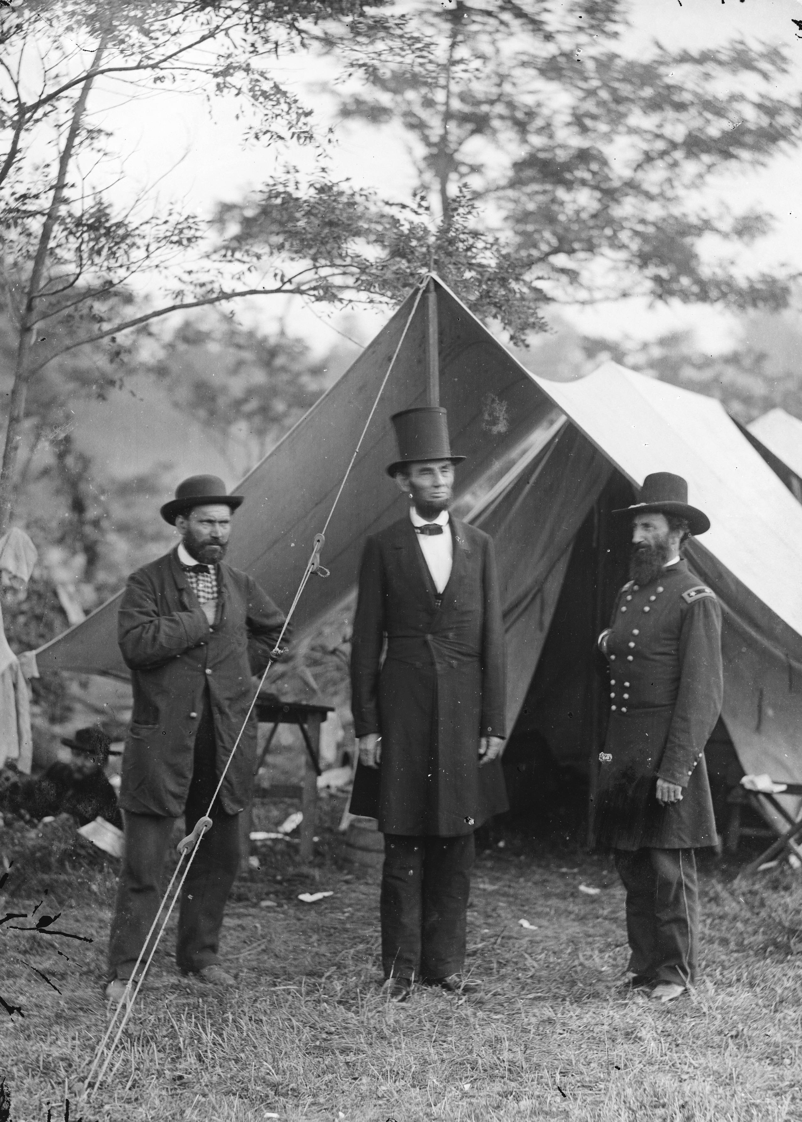 Lincoln, Pinkerton, and McClernand at Antietam, 1862