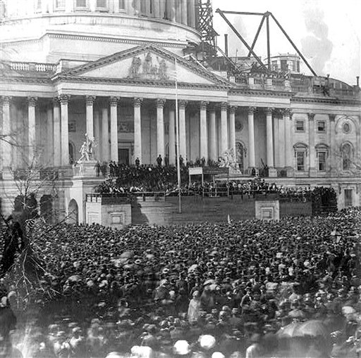 Inauguration of Abraham Lincoln, March 4, 1861.