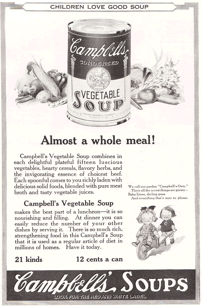 Antique Campbell's Soup Ad of 1922