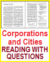 Corporations and Cities Reading with Questions