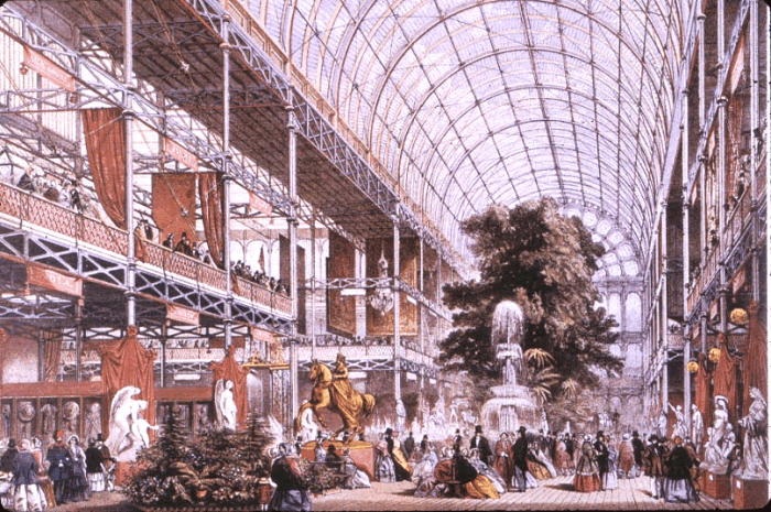 Crystal Palace at the Great Exhibition, Hyde Park, London, 1851