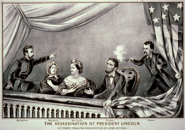 Currier and Ives Print of Abraham Lincoln's Assassination
