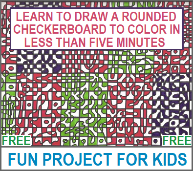 DIY: Make Your Own Rounded Checkerboard to Color - Instructions