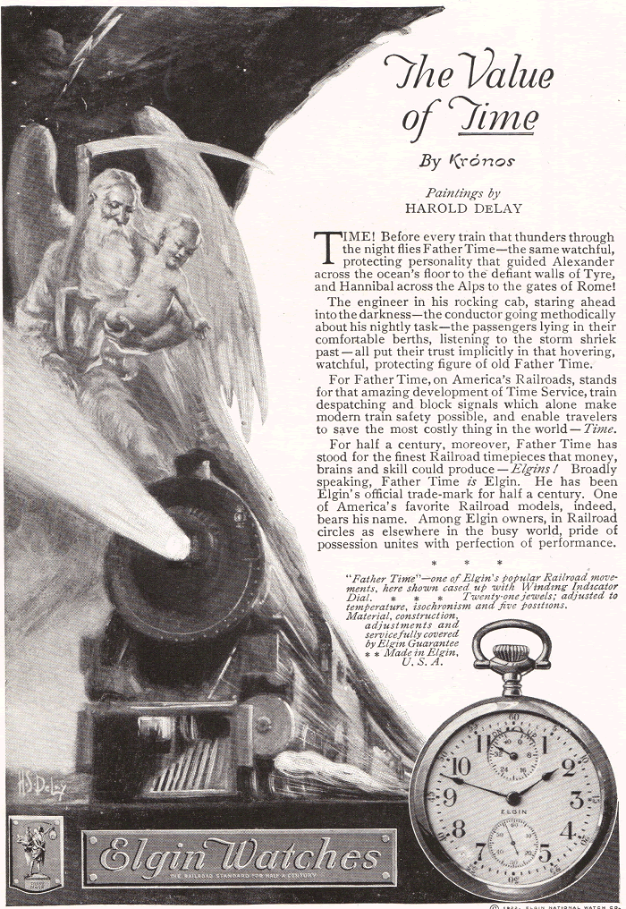 Elgin Watches Advertisement of 1922