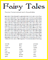 Fairy Tales Word Search Puzzle