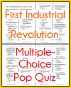 First Industrial Revolution Pop Quiz with 33 Multiple-Choice Questions