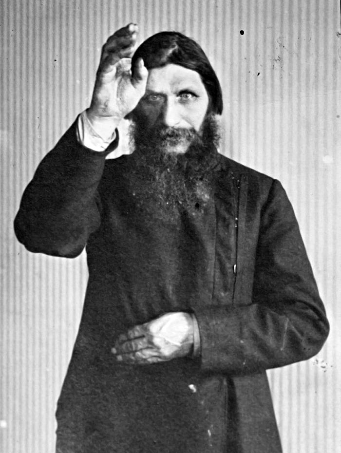 Grigori Rasputin Making the Sign of the Cross