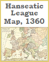 Hanseatic League Map, 1360