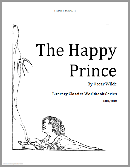 The Happy Prince by Oscar Wilde (1882) - Free printable short story workbook (PDF file)  for elementary school students.