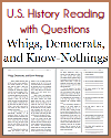 Whigs, Democrats, and Know-Nothings Reading with Questions