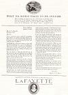 Lafayette Motors Company Ad