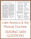 Latin America and the Monroe Doctrine Reading with Questions