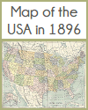 Map of the USA in 1896
