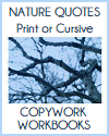 Nature Quotes Copywork Workbooks