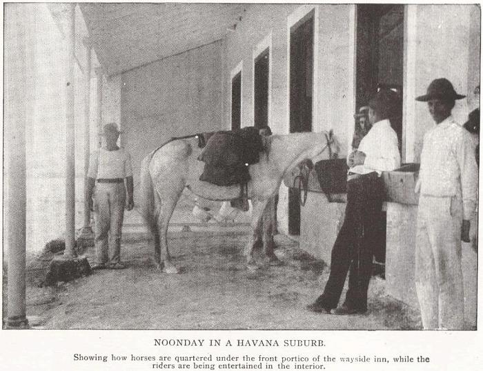 Noonday in a Havana Suburb, Cuba, 1898