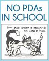 No PDAs in School Classroom Sign