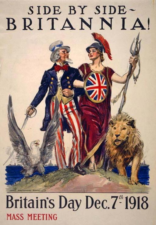 Side by side - Britannia! Britain's Day Dec. 7th 1918 World War I Poster