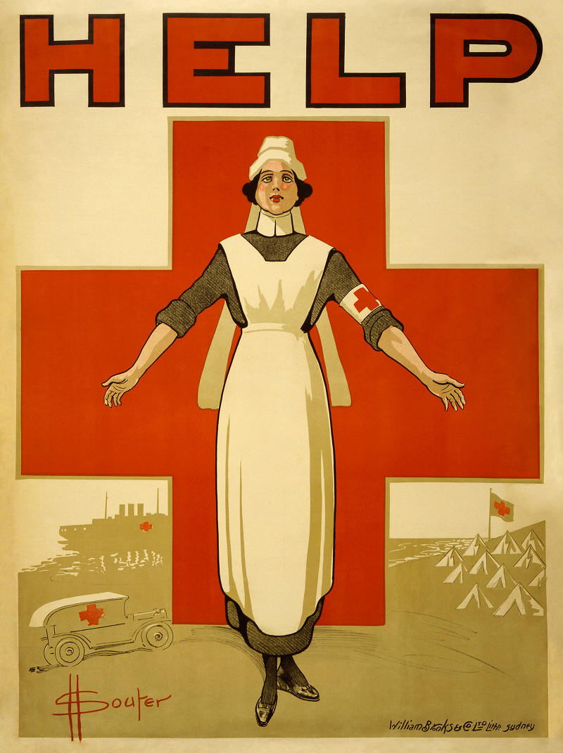 Souter Red Cross Nurse Poster World War I