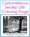 Carboniferous Swamp Life Coloring Page