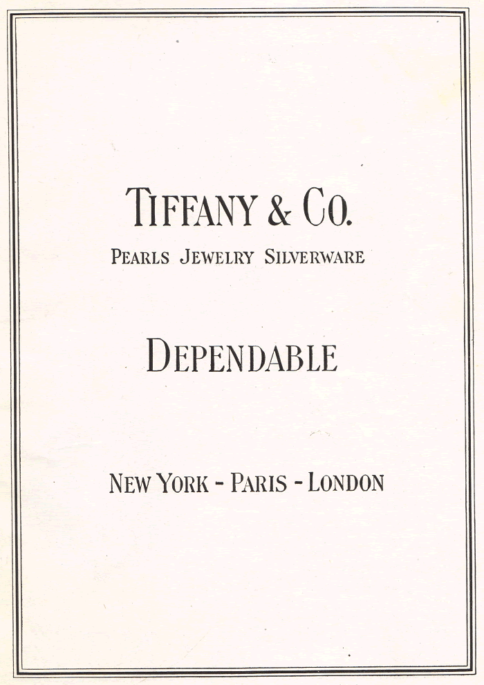 Tiffany and Company Advertisement of the 1920s