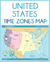 United States Time Zones Printable Map