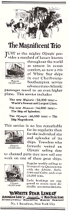 White Star Line Advertisement of 1922