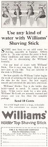 Williams' Shaving Stick Ad of 1922