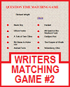 Writers Matching Game #2