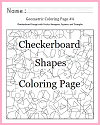 Checkerboard Shapes Coloring Page