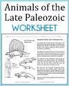 Late Paleozoic Animals Worksheet
