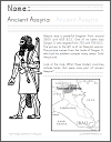 Ancient Assyria Map Work Coloring Page