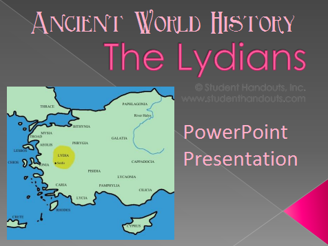 Ancient Lydians - Free PowerPoint for High School World History