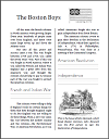 Boston Boys and the American Revolution - Workbook for Grades 1-3
