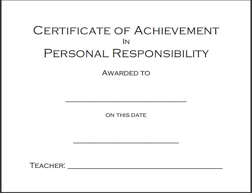 Character and Other Award Certificates to Print | Student Handouts