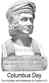 Columbus Day - Free Printables and Activities for K-12 Education