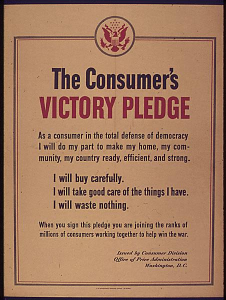 The Consumer's Victory Pledge - U,S. in World War II