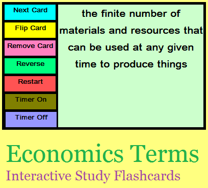 Economics - Living in a Global Economy Interactive Flashcards