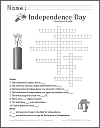 Independence Day (July 4th) Crossword Puzzle