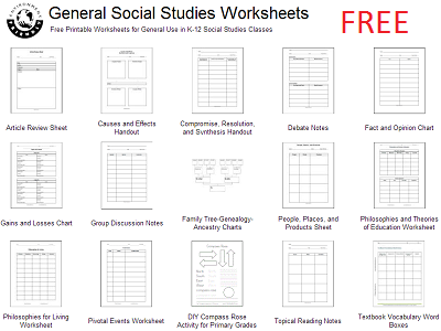 free social studies reproducibles worksheets student handouts. Black Bedroom Furniture Sets. Home Design Ideas