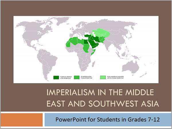 Imperialism in the Middle East and Southwest Asia PowerPoint Presentation for High School World History Students
