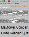 Mayflower Compact Cloze Reading Quiz