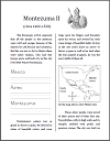 Montezuma II of the Aztec Workbook