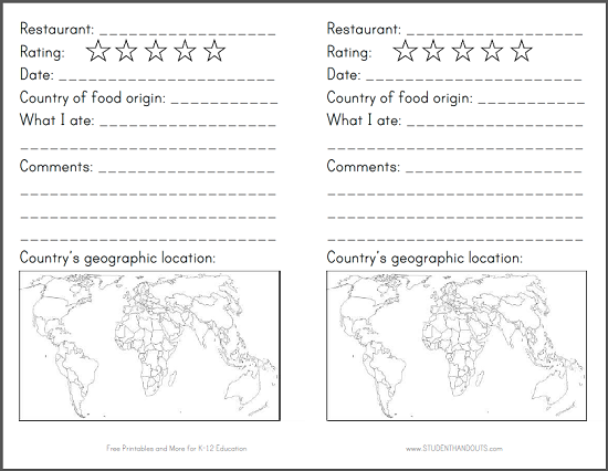 Restaurant Passport for Kids - Free to print (PDF file) with project instructions.