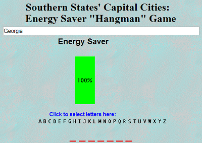 Southern State Capitals Energy Saver Game - Free to play online. No registration needed.