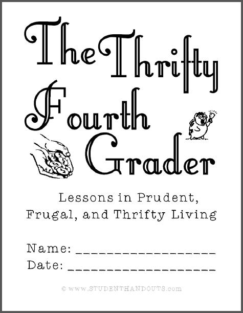 Thrifty Fourth-Grader Workbook - Free to print (PDF file).