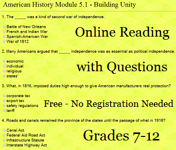 Building Unity Interactive Module for High School United States History